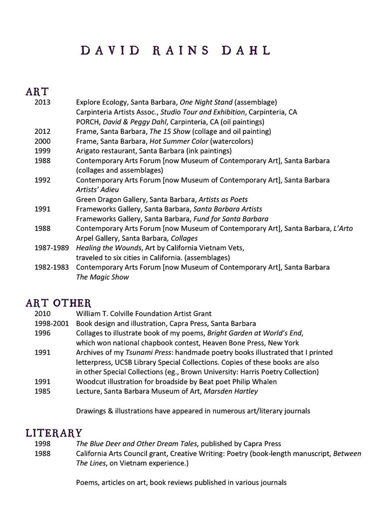 David Art ResumeSept 23 13 updated