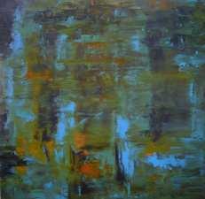 """Blues in Orbit, 2013, oil on canvas, 20"""" x 20"""""""